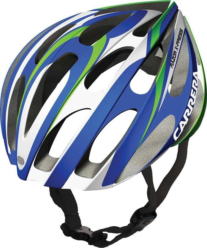 Carrera Razor X Press 54-57 MaviYeşil Bisiklet Kaskı CA4475BJ5457