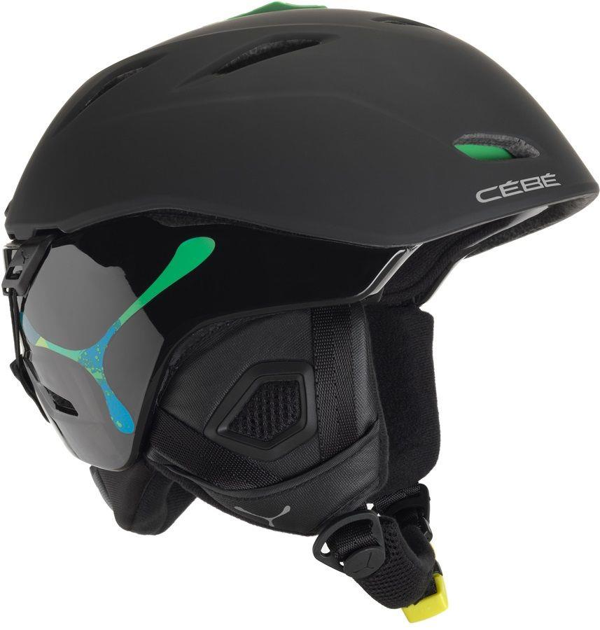 Cebe Atmosphere Kayak Snowboard Kask 58 62Cm Black/Green CBH83