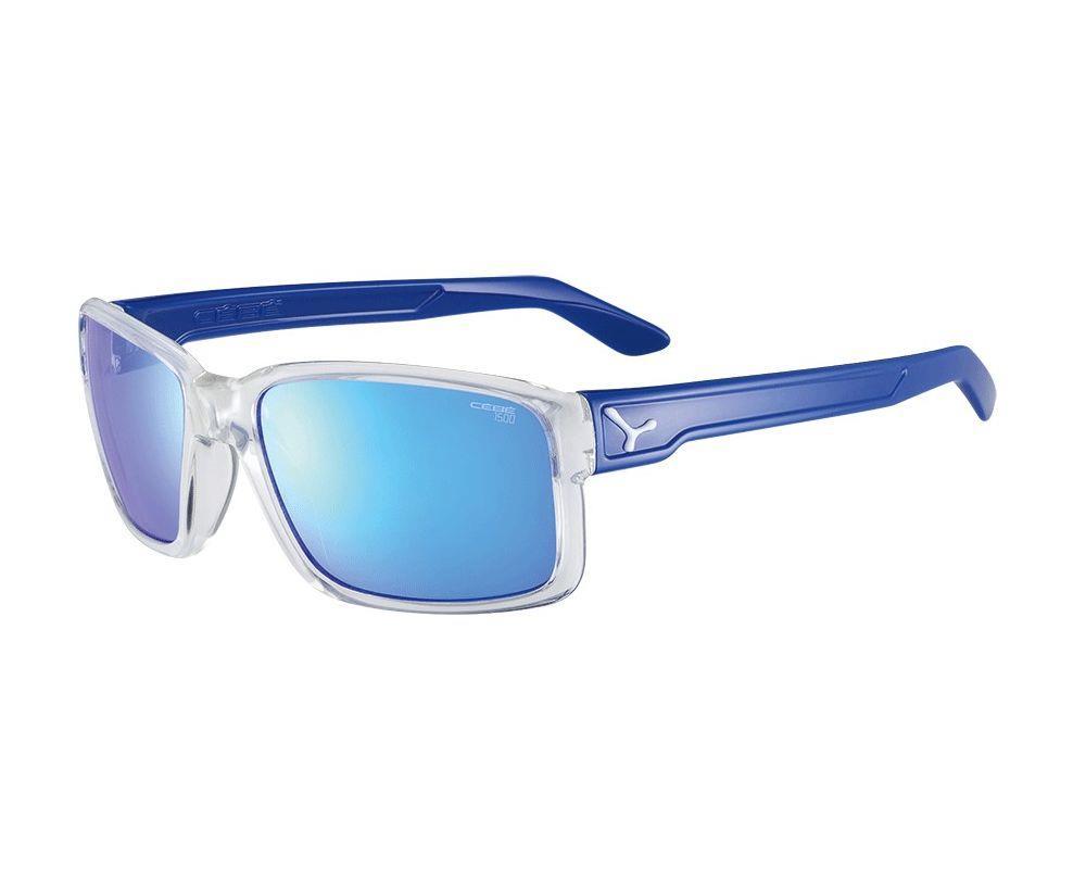 Cebe DUDE SHINY TRANSLUCENT CLEAR  BLUE Zone Grey Cat.3 Blue AR Güneş Gözlüğü