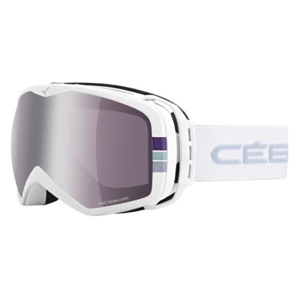 Cebe Peak Kayak Snowboard Gözlük Beyaz Stripes Dark Rose Sil Cbg4