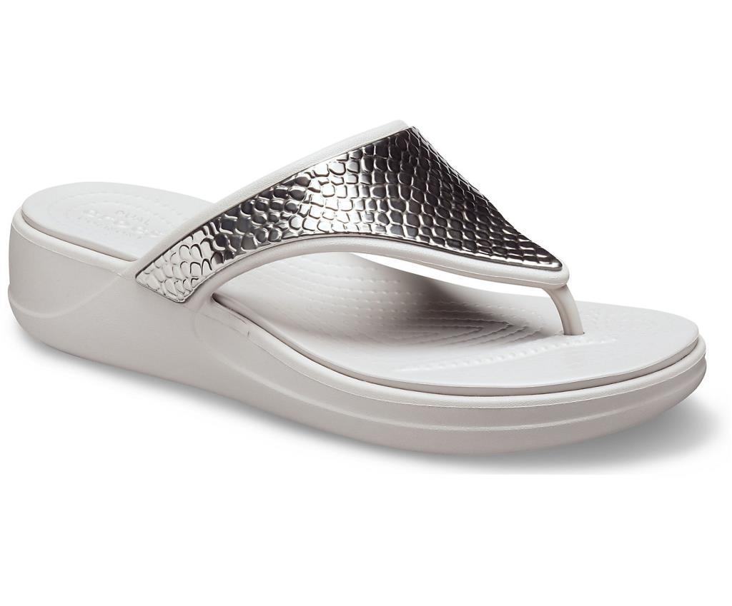 Crocs Monterey MetllcGri  Wdg Fp Kadın Terlik CR0945 0GO