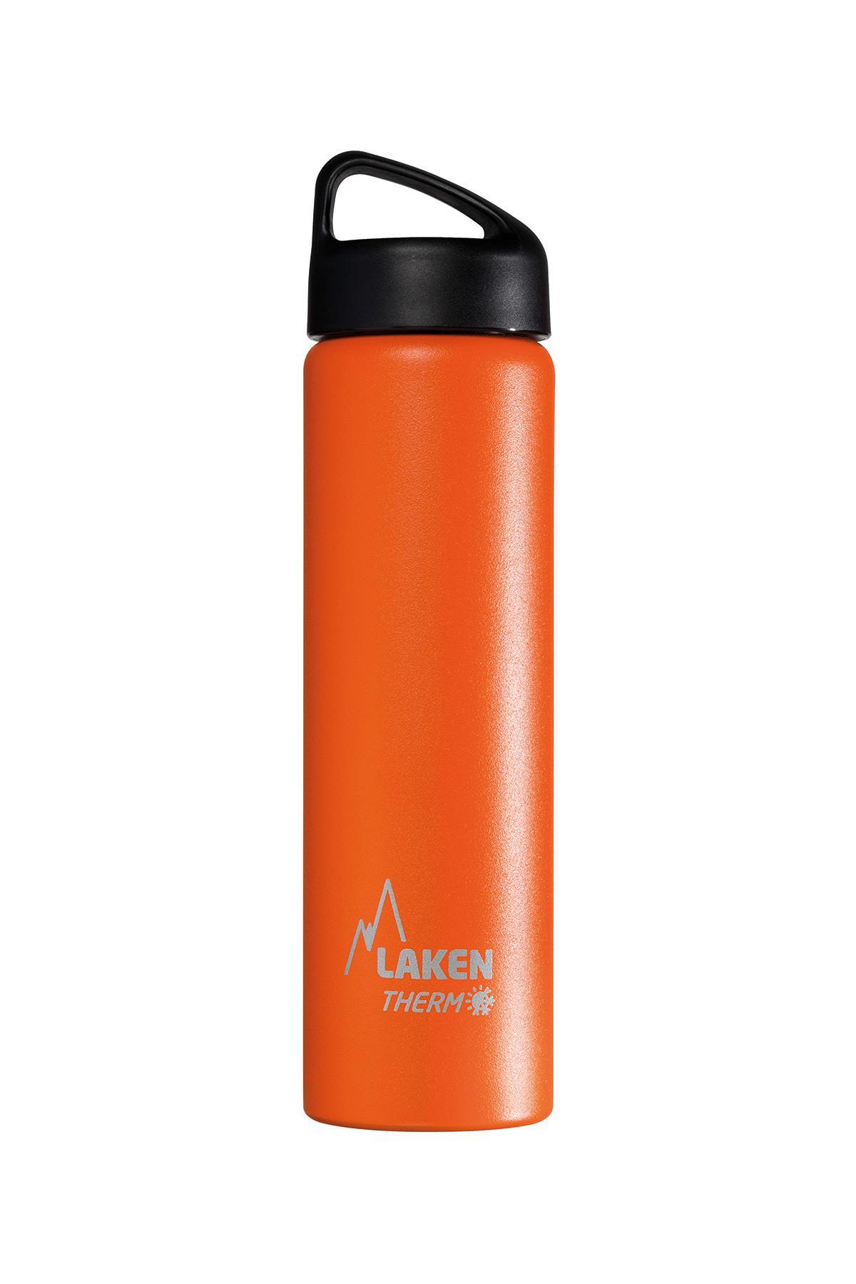 Laken İspanya Üretimi Çelik 18/8 Klasik Termos Şişe 0.75L Turuncu Lkta7O