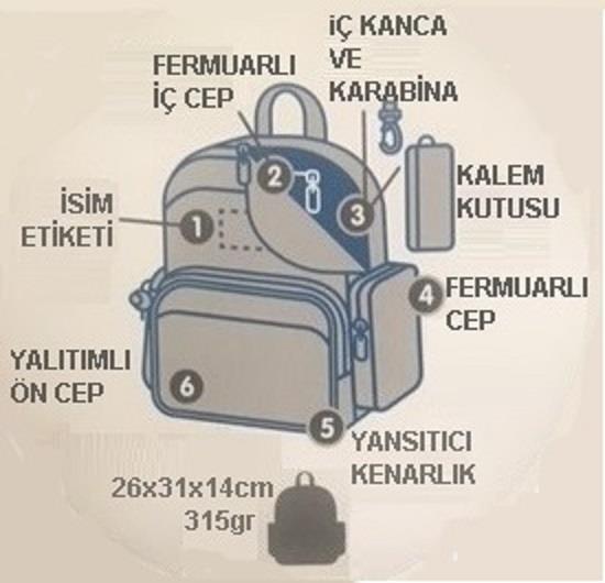 Laken Large Sırt Çantası  Katuki-Tutti Frutti