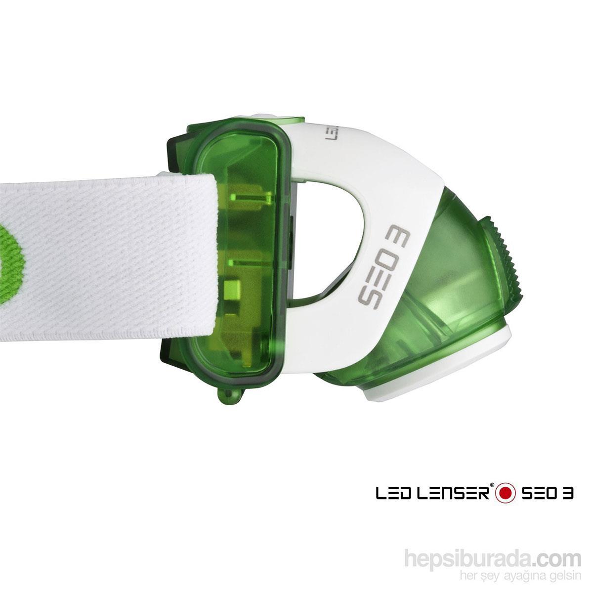 Led Lenser Seo3 Green Kafa Feneri Led6103