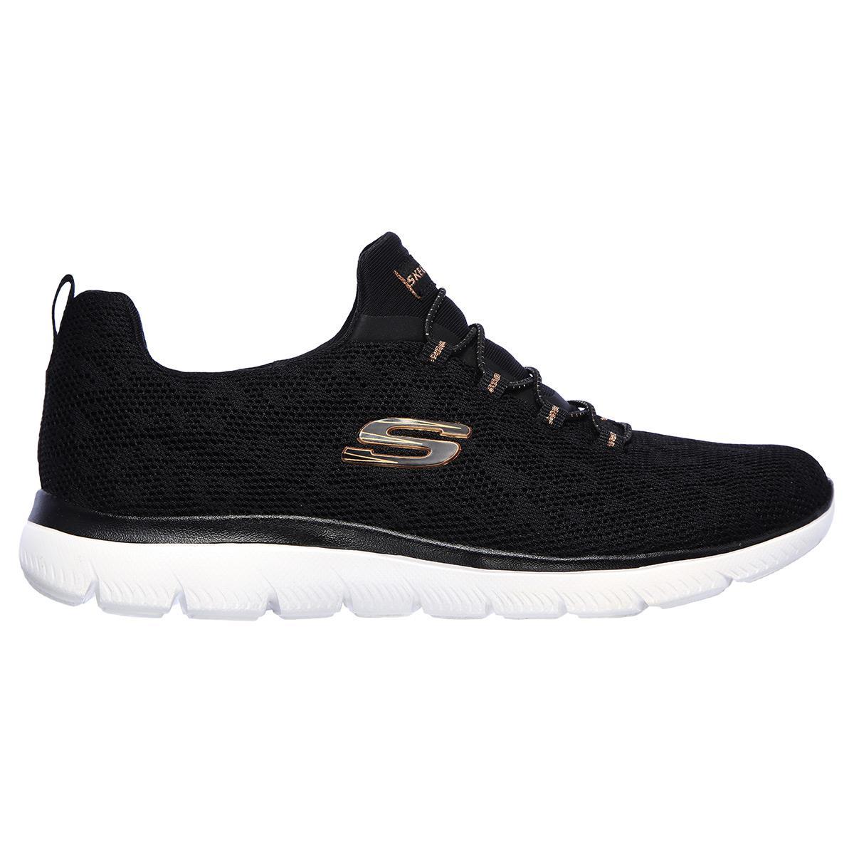 Skechers SUMMITS - LEOPARD SPOT Kadın Ayakkabısı SKC149037 BKRG