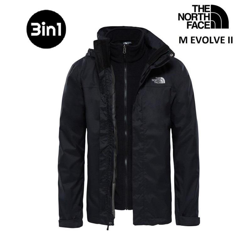 The North Face Siyah Evolve II Triclimate 3in1 Erkek Ceket T0CG55JK3