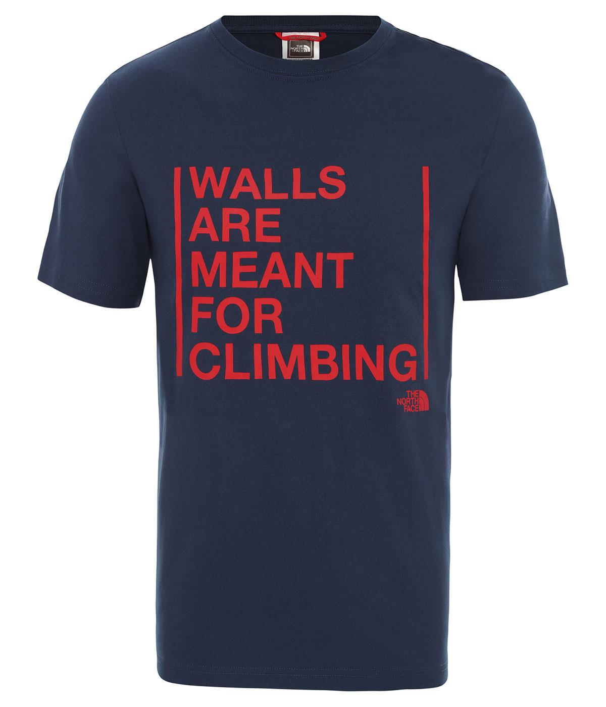 The Northface Erkek S/S WALLS ARE FOR CLIMBING TEE-EU NF0A3S3SN4L1