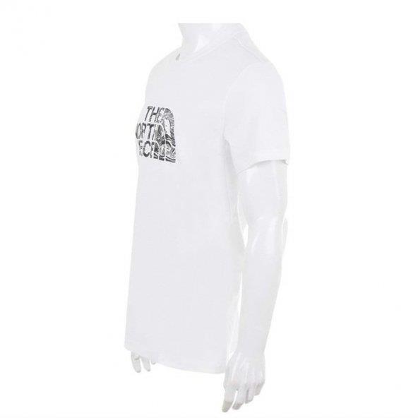 The Northface Erkek Beyaz Kısakol  Woodcut Dome Tee T0A3G1La9 Tişört