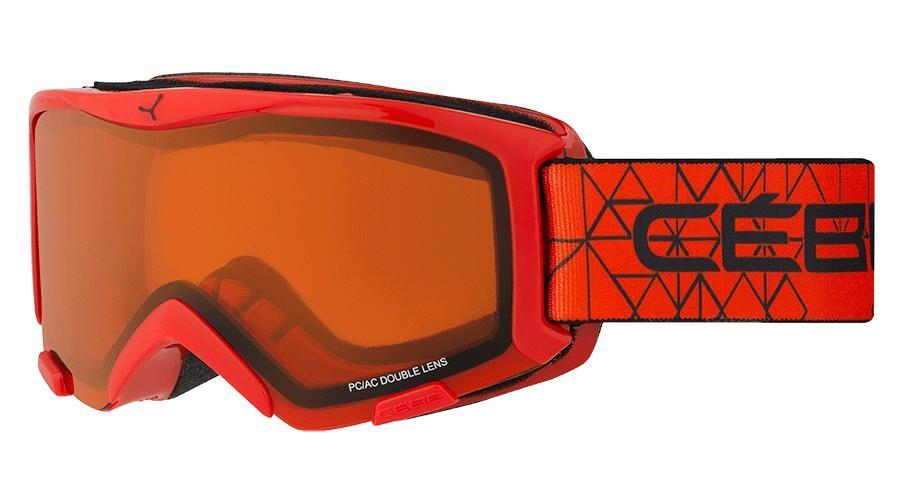 Cebe Bıonıc Kayak Snowboard Gözlüğü  Kırmızı Oranj Cbg117