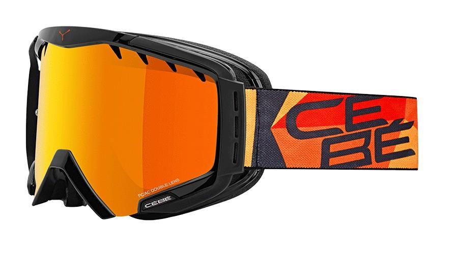 Cebe Hurricane Kayak Snowboard Gözlük L Kırmızı Oranj Flash