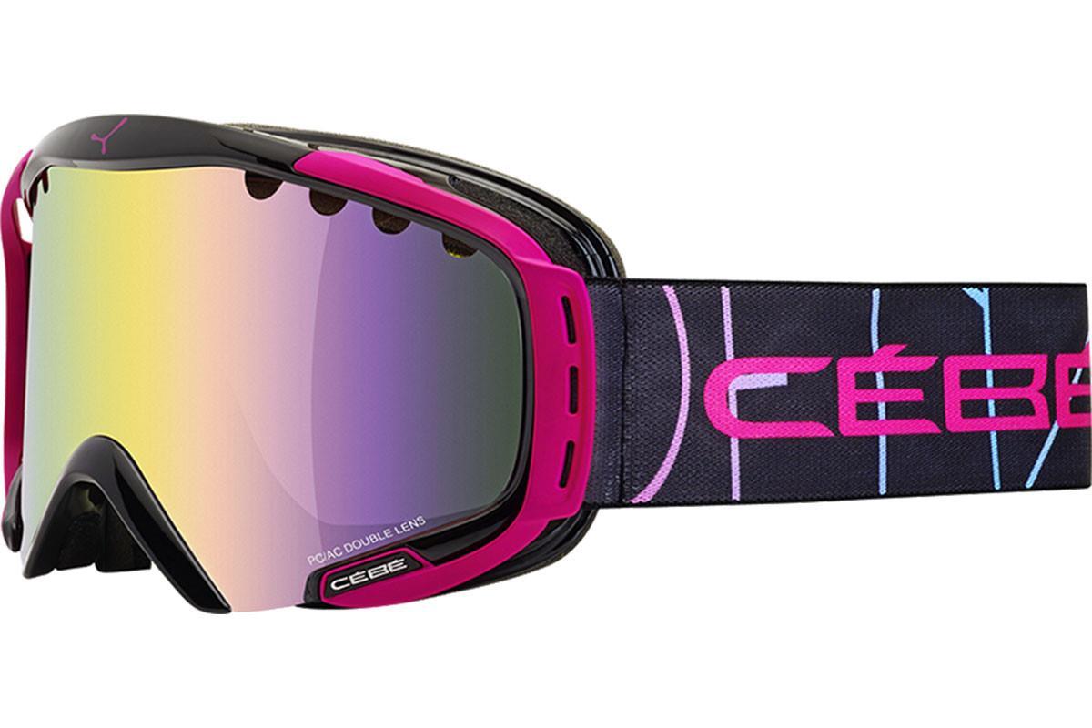 Cebe Hurricane Kayak Snowboard Gözlük M Siyah Pembe CBG21