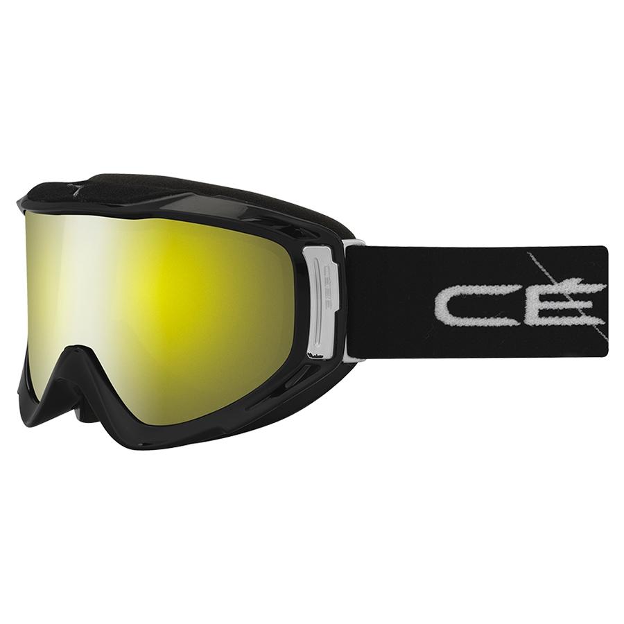 Cebe Legend  Kayak Gözlüğü Büyük Beden Siyah Kayış  Sarı  Flash  Aynalı Cbg42