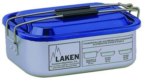 Laken Alüminyum Kamp Yemek Seti 1,2L Mavi Lk902