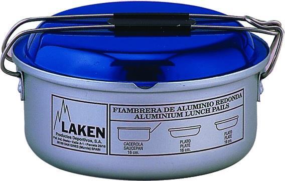 Laken Alüminyum Kamp Yemek Seti I Ø16Cm Mavi Lk812