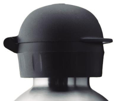 Laken Hit 18/8 Çelik Termos Şişe Kapağı Siyah Lktth