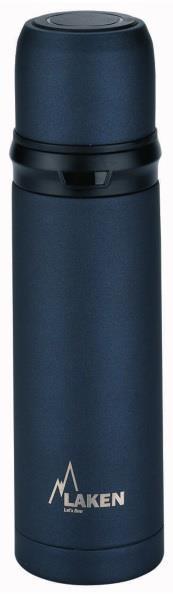 Laken İspanya Üretimi Thermos İnox 0,50L Çelik Termos Black Lk180050N