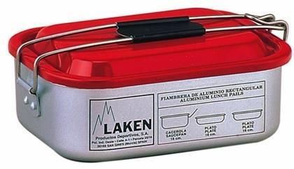 Laken Kamp Alüminyum Yemek Seti 1,2L Kırmızı Lk901
