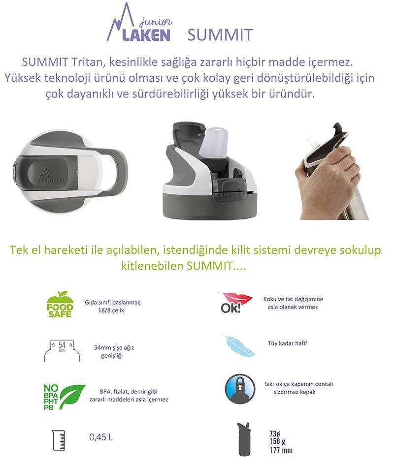 Laken Tritan Summit Şişe 0,45L - Sirenas
