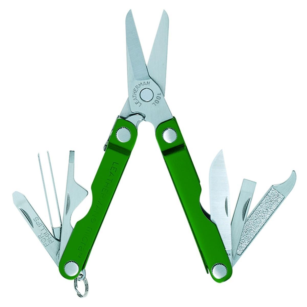 Leatherman Micra Yeşil Aluminium Çok Amaçlı Makas LEA64350181N