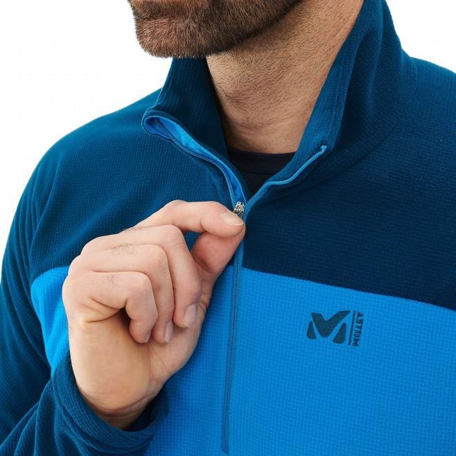 Millet Vector Grid Half Zip Erkek Polar Ceket Mavi MIV8020 8287