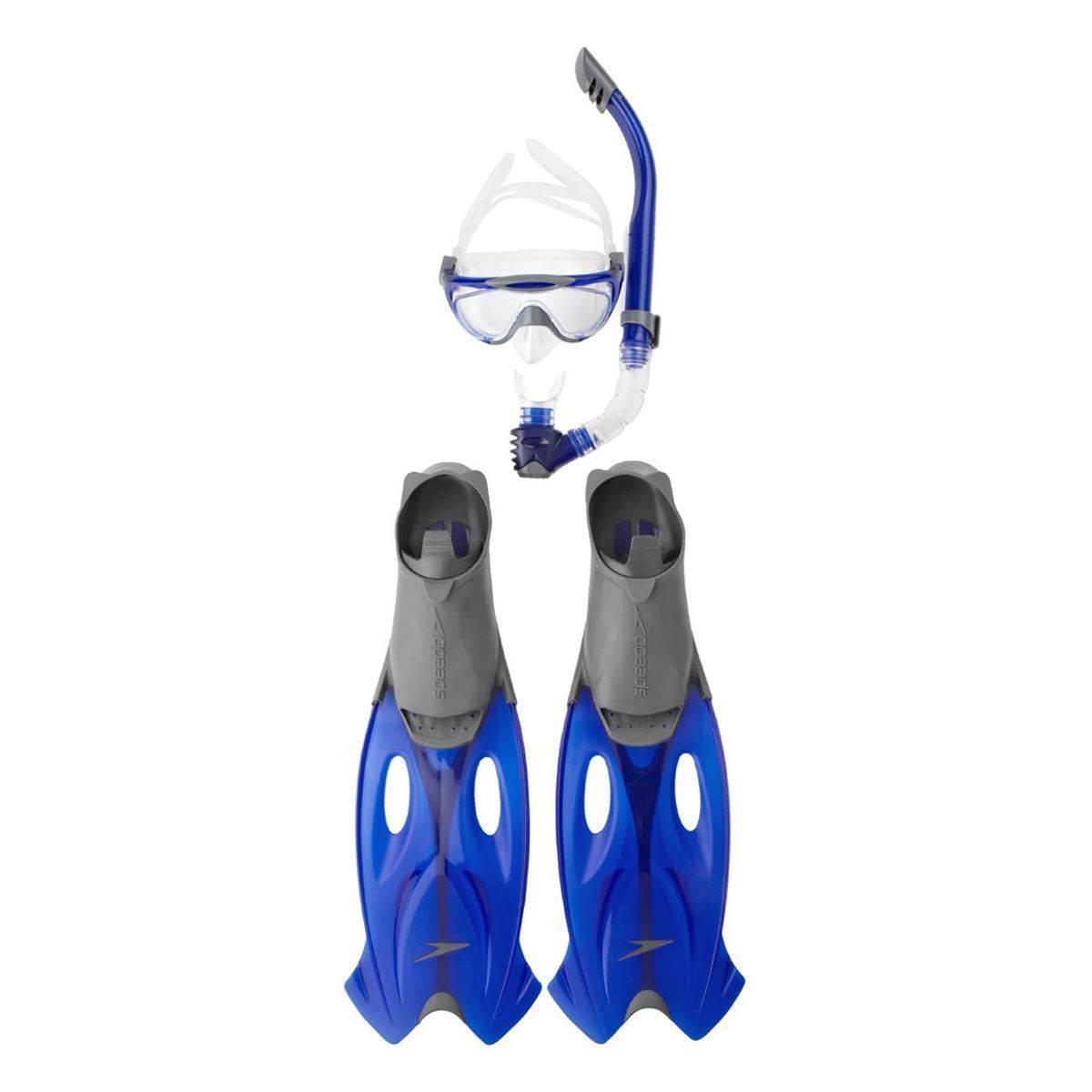 Speedo Glıdefıns Unı Gre/Blu Çocuk Şnorkel Palet Seti. S8016555052A