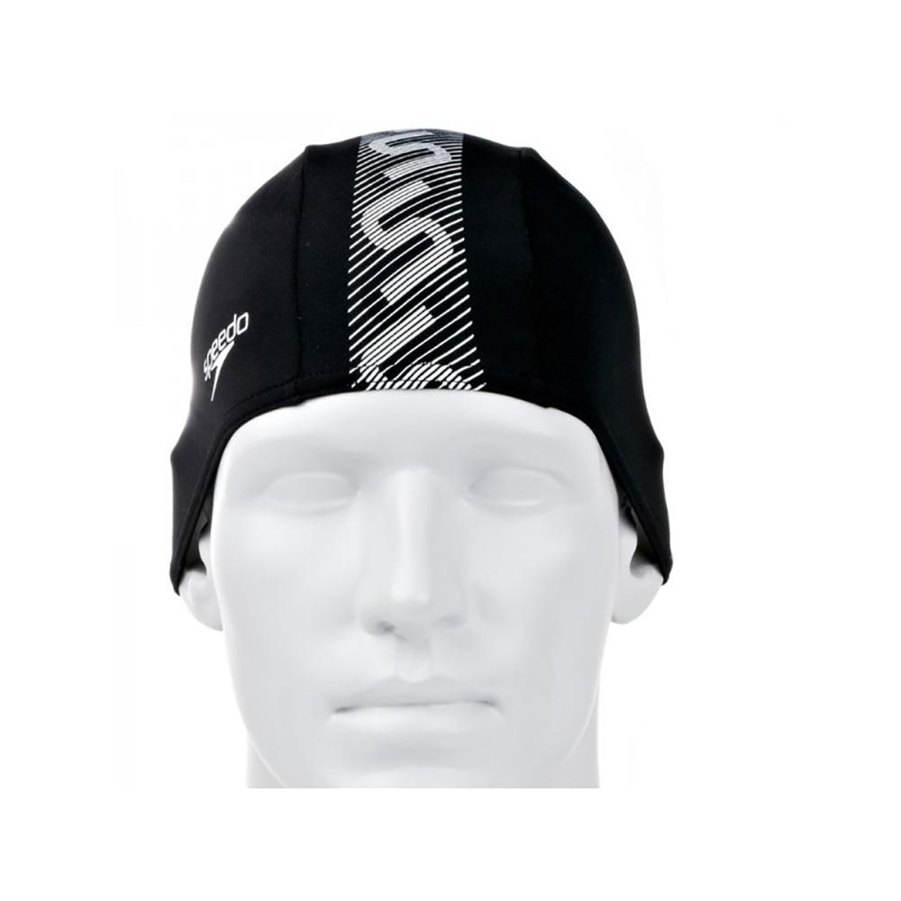 Speedo Monogram Endurance Siyah/Beyaz Yüzücü Bone Sp8087723503