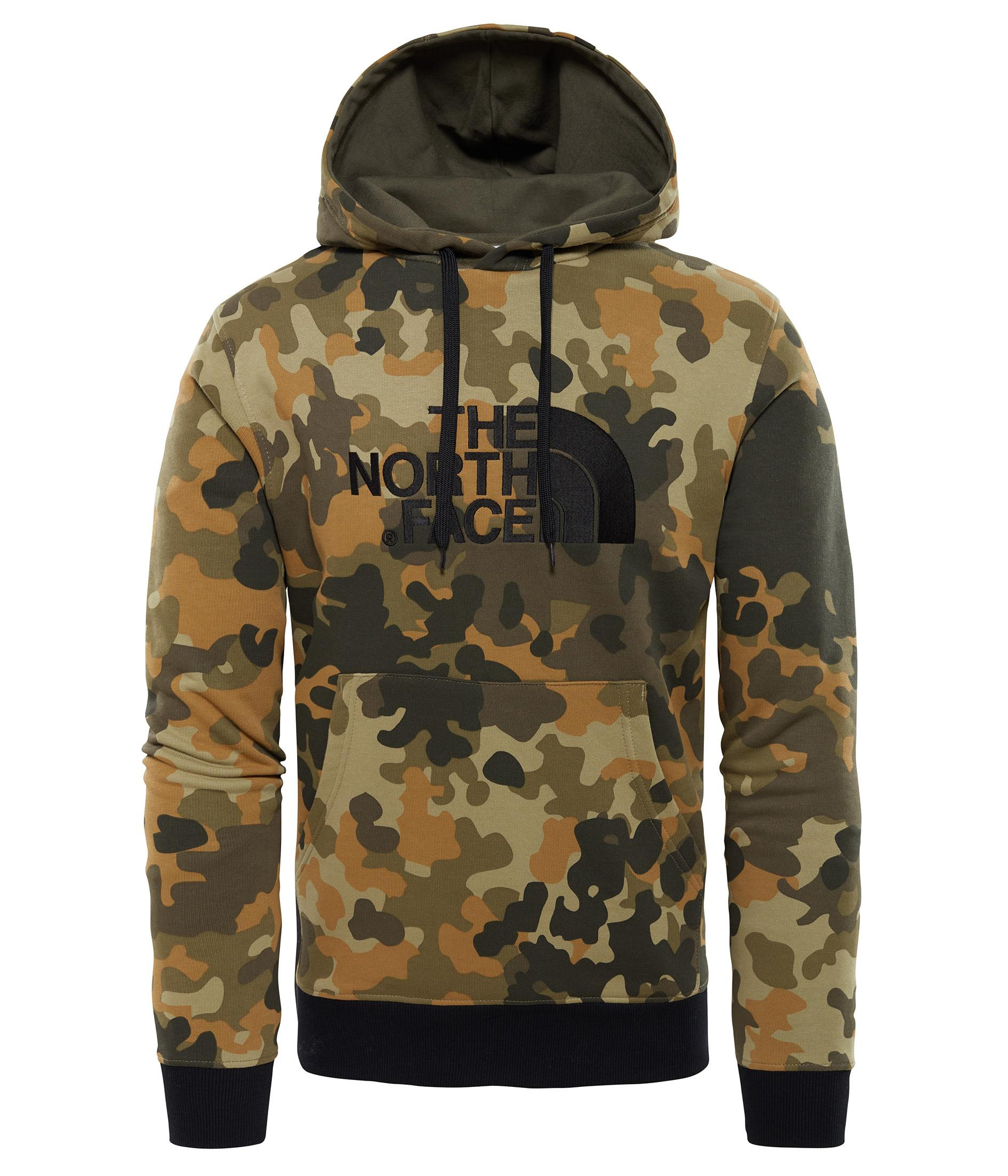 The North Face Drew Peak Erkek Kamuflaj Sweatshirt T0AHJY5XP
